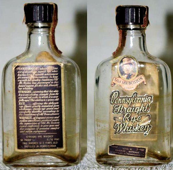 Miniature Bottle Library Old Mr Boston